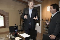 Visita del diputat Felix Larrosaa Vinya els Vilars 2012